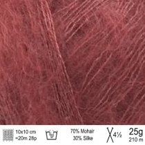 Angel Mohair garn 117 redwood