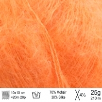 Angel Mohair garn 145 lys orange