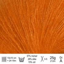 Tynn Silk Mohair garn 2727 orange