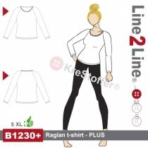 Raglan t-shirt - PLUS
