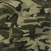 Bomuldsjersey med camouflage, army