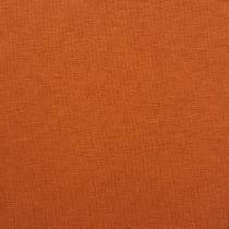 Ensfarvet viscose jersey, brændt orange
