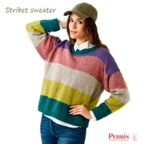 Dagmar stribet sweater fra Permin
